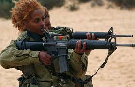 African Women soldiers with assault rife